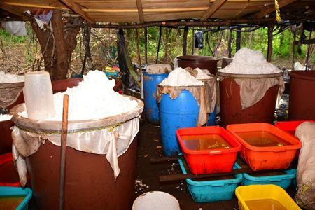 Mexican Navy seizes 50 tonnes of meth drugs in underground mountain lab near Alcoyonqui.