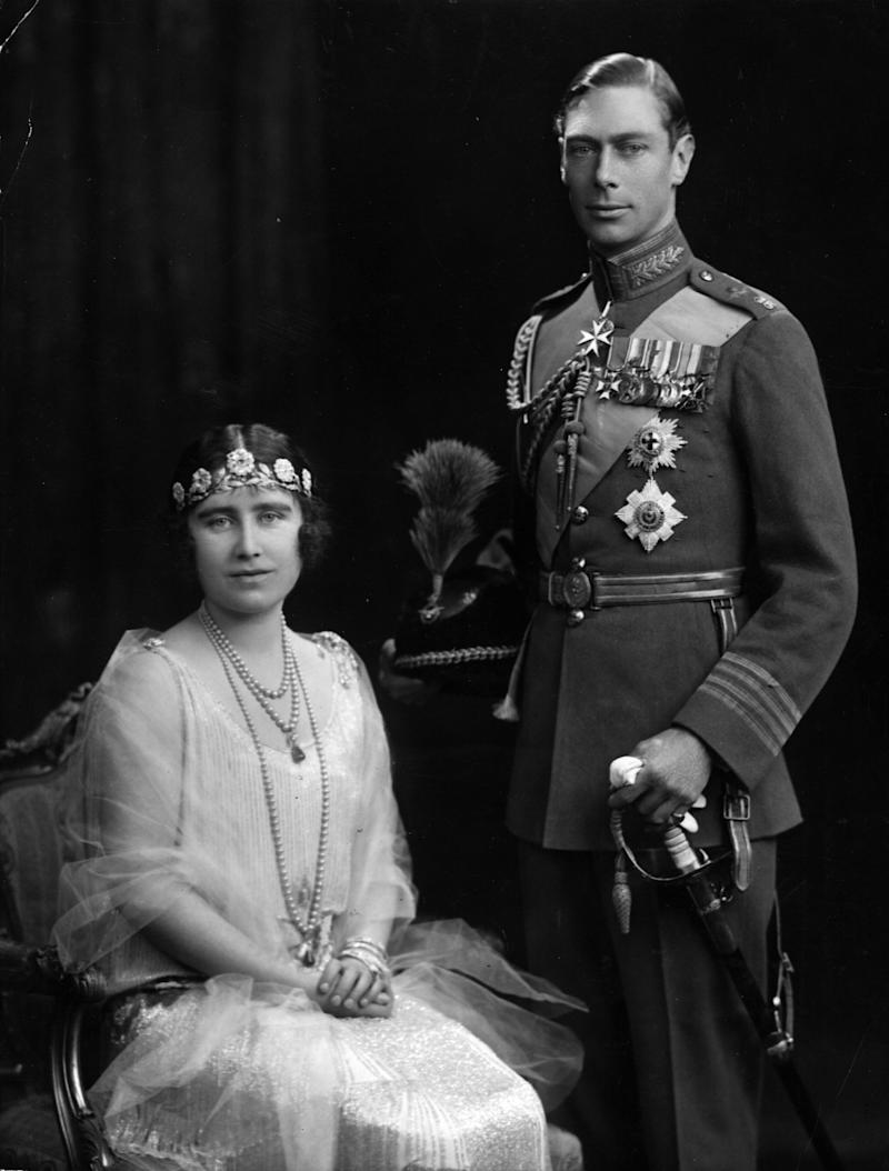 26th April 1923: The Duke and Duchess of York on their marriage day, later becoming King George VI (1895 - 1952) and Queen Elizabeth (1900 - 2002). (Photo by Hulton Archive/Getty Images)
