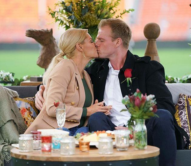 Jarrod landed the first date and kiss with Sophie for the season. Source: Channel 10