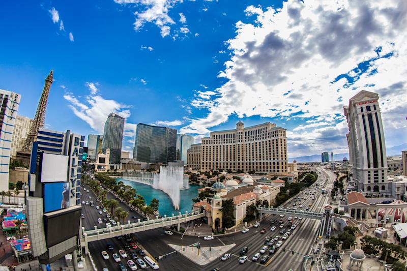 Panoramic of the Las Vegas Strip.
