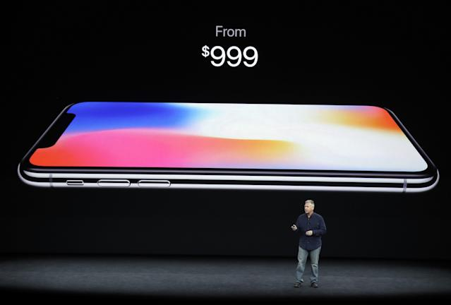 Apple's new iPhone X. It's not cheap.