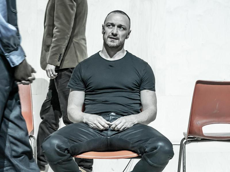 James McAvoy stars in 'Cyrano de Bergerac' at the Playhouse Theatre: Marc Brenner