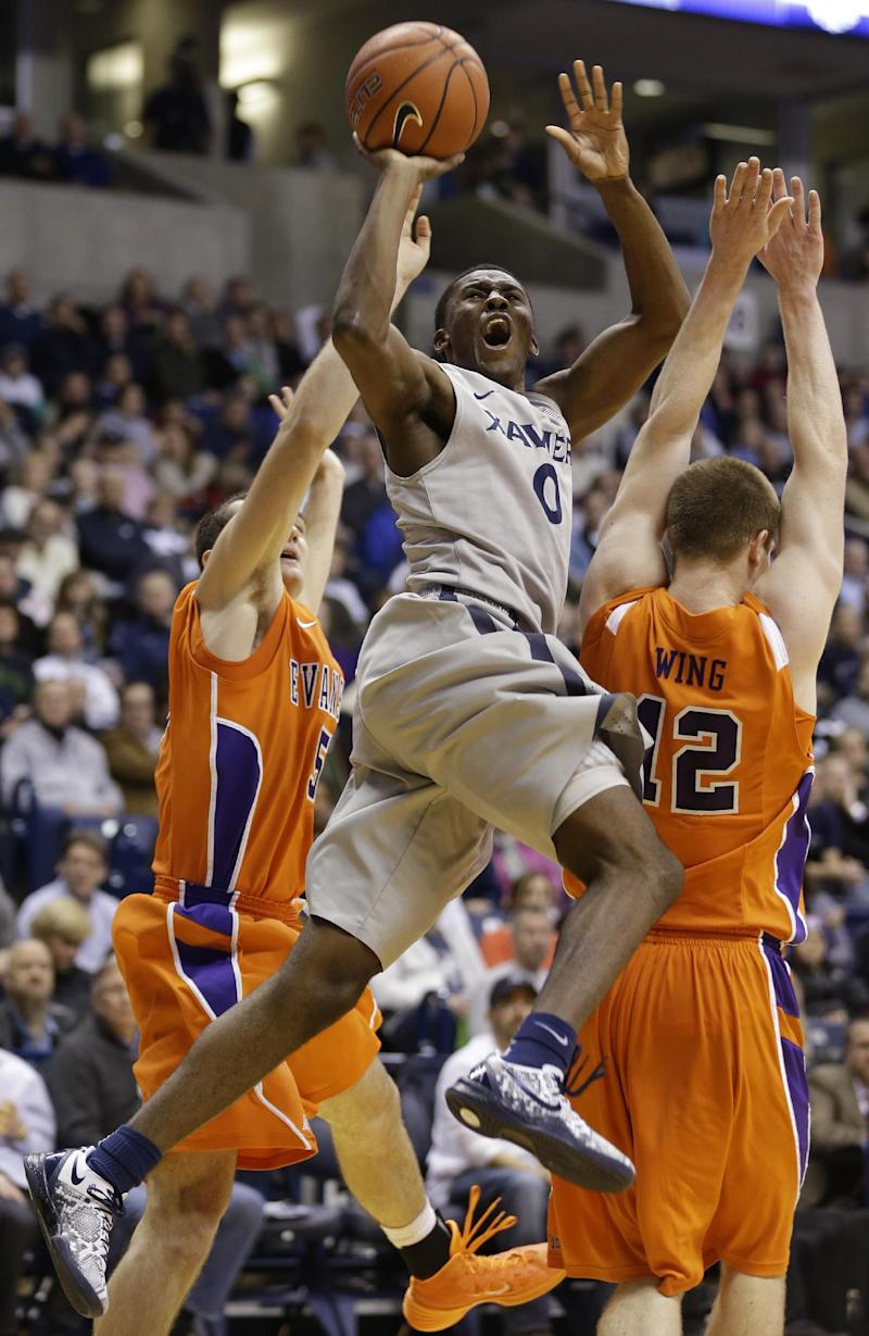 Christon rallies Xavier over Evansville 63-60