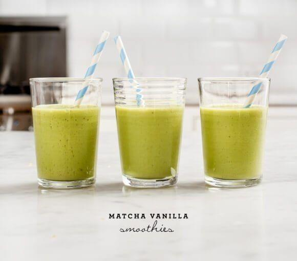 """<p>If you're someone who loves a morning matcha, then this smoothie will be great for your breakfast treat. It's like the classic drink except blended with ice to reap that smoothie consistency.</p><p><a class=""""link rapid-noclick-resp"""" href=""""https://www.loveandlemons.com/matcha-smoothie-vanilla/"""" rel=""""nofollow noopener"""" target=""""_blank"""" data-ylk=""""slk:Get the recipe"""">Get the recipe</a></p>"""