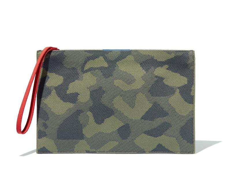 The Essential Pouch in green camouflage.