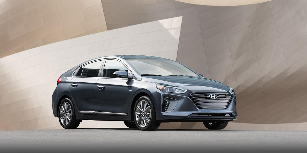 "<p>EPA combined: 55–58 mpg</p><p>There is a lot to like about <a href=""https://www.caranddriver.com/hyundai/Ioniq"" target=""_blank"">the 2019 Hyundai Ioniq hybrid</a> (there also are plug-in hybrid and full-electric Ioniq variants). The hatchback delivers 58 mpg on the EPA's combined test cycle in its lowest-priced ""Blue"" trim, and 55 mpg combined in every other trim. It uses a traditional automatic transmission, which delivers crisp shifts instead of the slurry weirdness many hybrids' continuously variable automatic transmissions operate with. And the Hyundai looks and feels (mostly) like a conventional hatchback. The buzzy gas-powered engine could be more refined, but that is a common issue among hybrids-so it is hardly a deal-breaker. </p>"