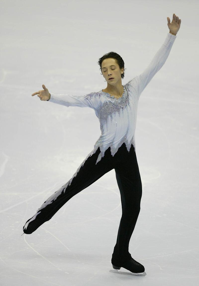 Competing in the free skate during the State Farm U.S. Figure Skating Championships on Jan. 10, 2004, at Philips Arena in Atlanta.
