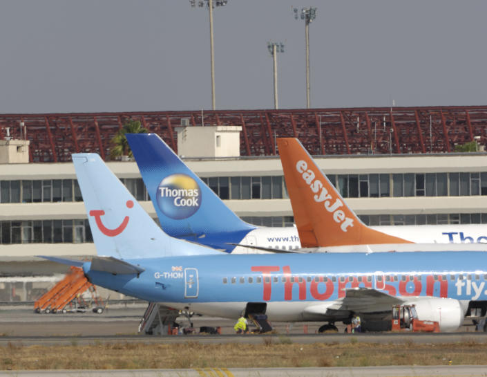 Thomas Cook rivals including easyJet and Tui (previously Thomson) are benefiting from the. Photo: aviation-images.com/Universal Images Group via Getty Images