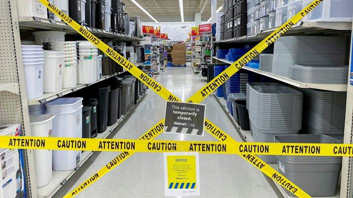 Restricted Item Aisle in Wal-Mart, Toronto