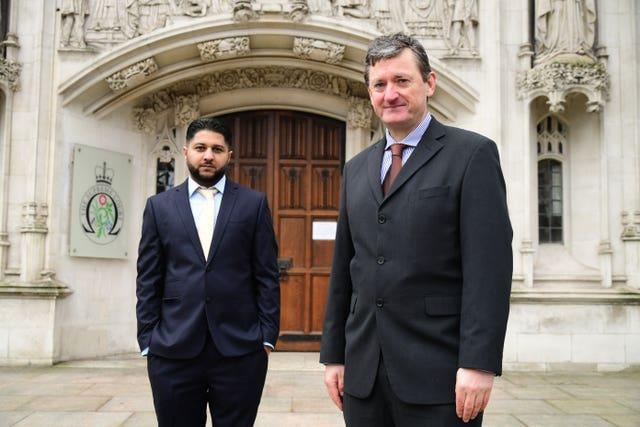Uber drivers Yaseen Aslam (left) and James Farrar (Ian West/PA)