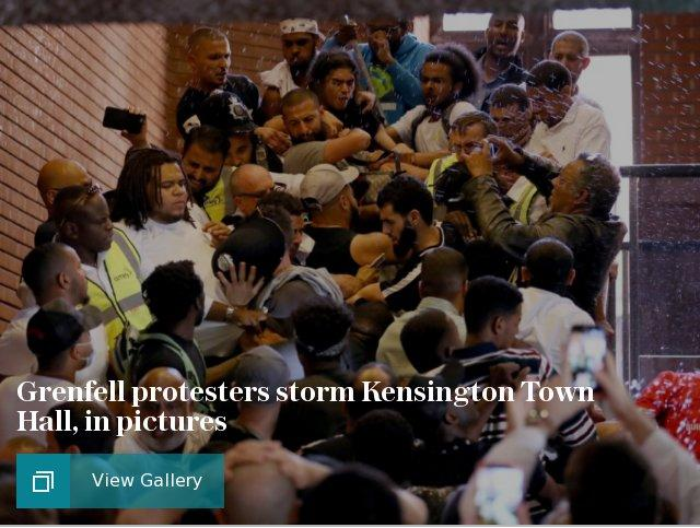 Grenfell protesters storm Kensington Town Hall, in pictures