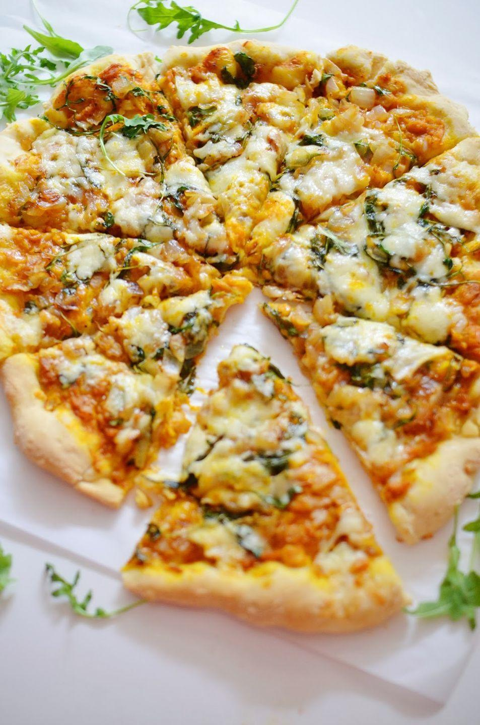 """<p>This blogger claims this is the best pizza you'll ever eat. It's topped with pumpkin puree, sweet onion, garlic, arugula, and parmesan and havarti cheeses. </p><p><strong>Get the recipe at <a href=""""http://lovelolavintage.blogspot.com/2013/11/savory-pumpkin-pizza-aka-best-pizza-you.html"""" rel=""""nofollow noopener"""" target=""""_blank"""" data-ylk=""""slk:Love Lola"""" class=""""link rapid-noclick-resp"""">Love Lola</a>.</strong></p>"""