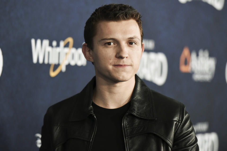 Tom Holland attends the world premiere of