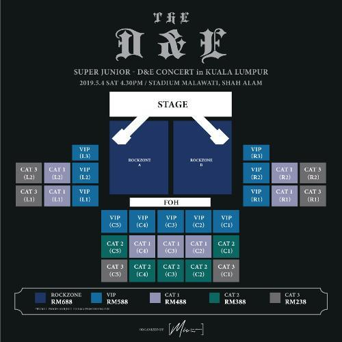 Seating plan, though the best view of the stage will require you to be standing up instead.