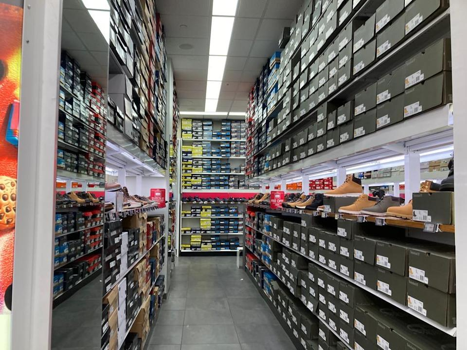 The Famous Footwear inventory in New York.  - Credit: Shoshy Ciment / Footwear News