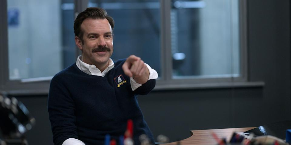 """Jason Sudeikis plays title character """"Ted Lasso"""" in Apple TV+'s Emmy-nominated sitcom, which launched Season 2 on the opening day of the Tokyo Olympics."""