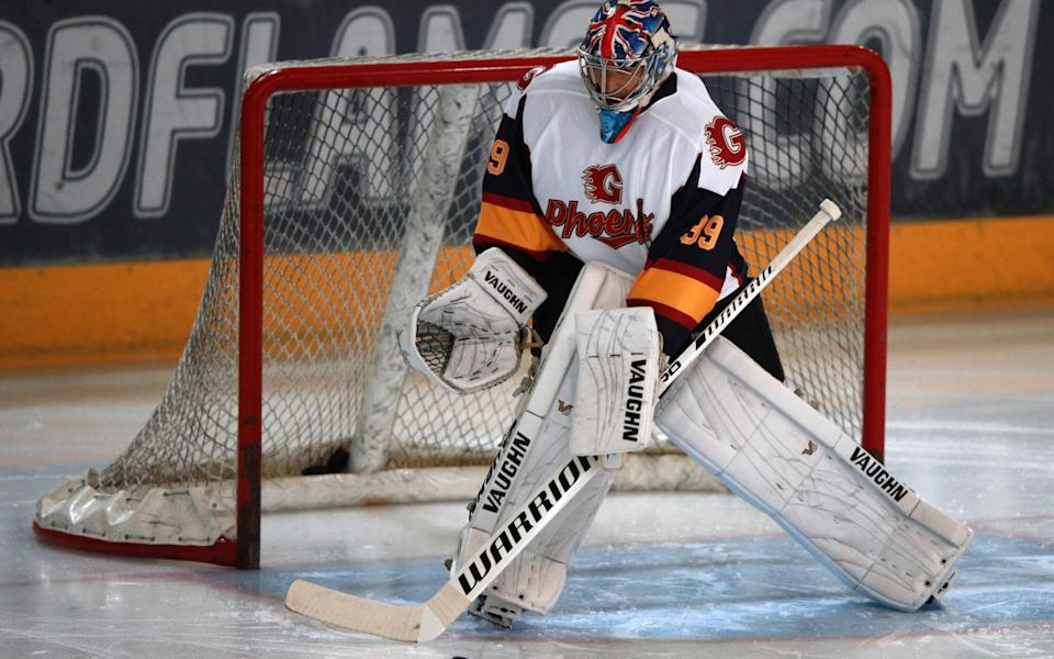 Guildford Phoenix goaltender Petr Cech during the NIHL2 match at Guildford Spectrum Leisure Complex - PA