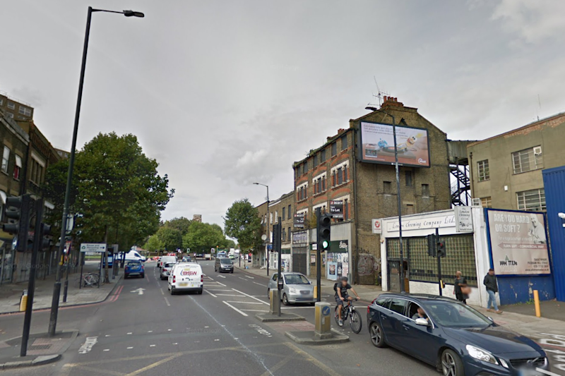 Serious injuries: The cyclist was hit by a bus on the Old Kent Road on Saturday afternoon: Google