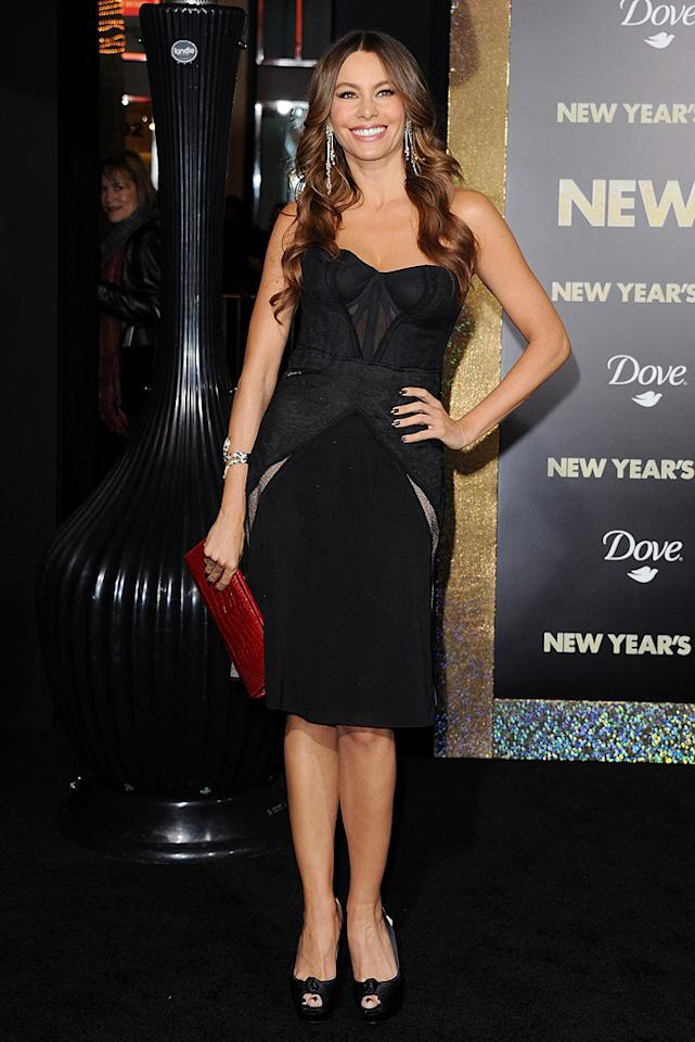"<a href=""http://movies.yahoo.com/movie/contributor/1804514019"">Sofia Vergara</a> at the Los Angeles premiere of <a href=""http://movies.yahoo.com/movie/1810219047/info"">New Year's Eve</a> on December 5, 2011."