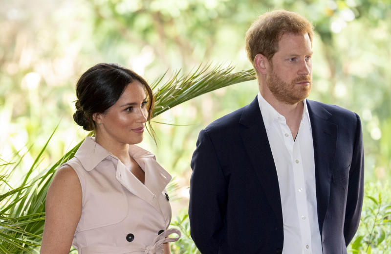 Photo by: KGC-178/STAR MAX/IPx 2019 10/2/19 Prince Harry, Duke of Sussex and Meghan, Duchess of Sussex attend a Creative Industries and Business Reception in Johannesburg, South Africa.