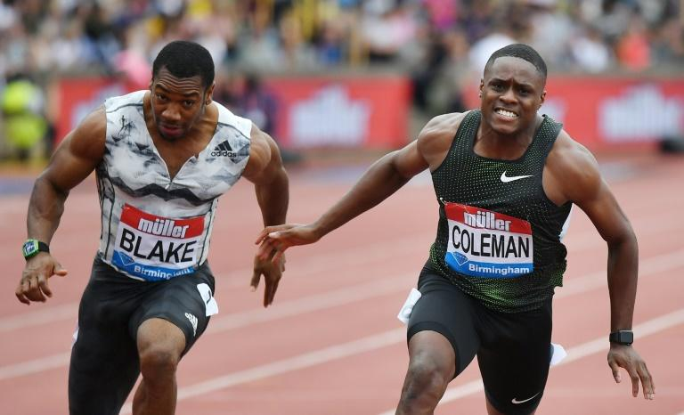 Christian Coleman produced an eye-catching 100 metres performance to beat newly-crowned European champion Zharnel Hughes