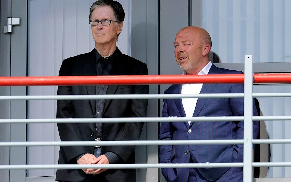 Frank McParland working alongside Liverpool owner John W Henry - Getty Images