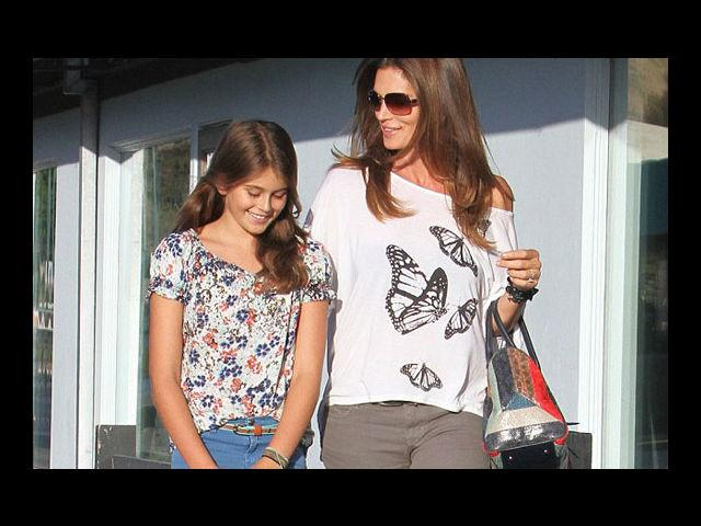 <b>2. Cindy Crawford and Kaia Gerber</b><br>One of the original supermodels, Cindy Crawford defined fashion the moment she set her sexy feet on the ramp. The catwalks sure miss her hotness, however, take one look at her and time stands still... she's as flawless as she's fashionable! Kaia Gerber, Cindy's daughter, is just 11-years-old, but she is following in her famous mother's footsteps. We have to wait and see how far Kaia goes, but as far as her sense of style is concerned, she has got it down to a tee.