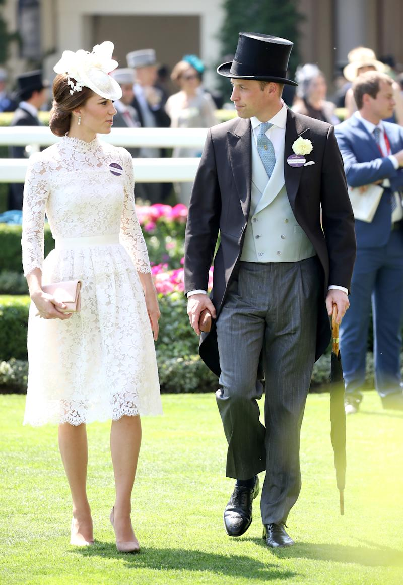 The Duke and Duchess of Cambridge photographed at the 2017 Royal Ascot [Photo: Getty]