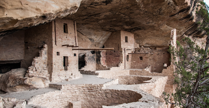 <strong>Mesa Verde National Park</strong> is located in southern Colorado and is home to Native American cliff dwellings.