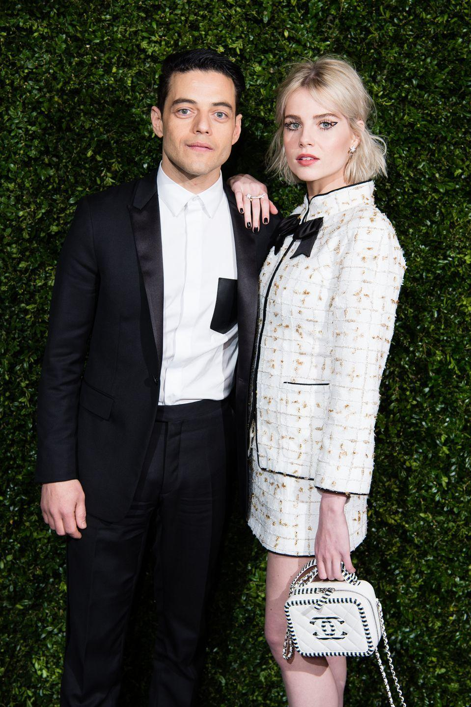 <p><strong>How long they've been together: </strong>The couple met in 2018 on the set of the Oscar-winning biopic, <em>Bohemian Rhapsody, </em>where they were in an on-screen relationship. </p><p><strong>Why you forgot they're <strong>together</strong>: </strong>Although the couple shined throughout 2019's awards season, things seem to have settled for Malek and Boynton. They've since traded red carpet photo ops for casual New York City strolls, which seems to be more their speed. </p>