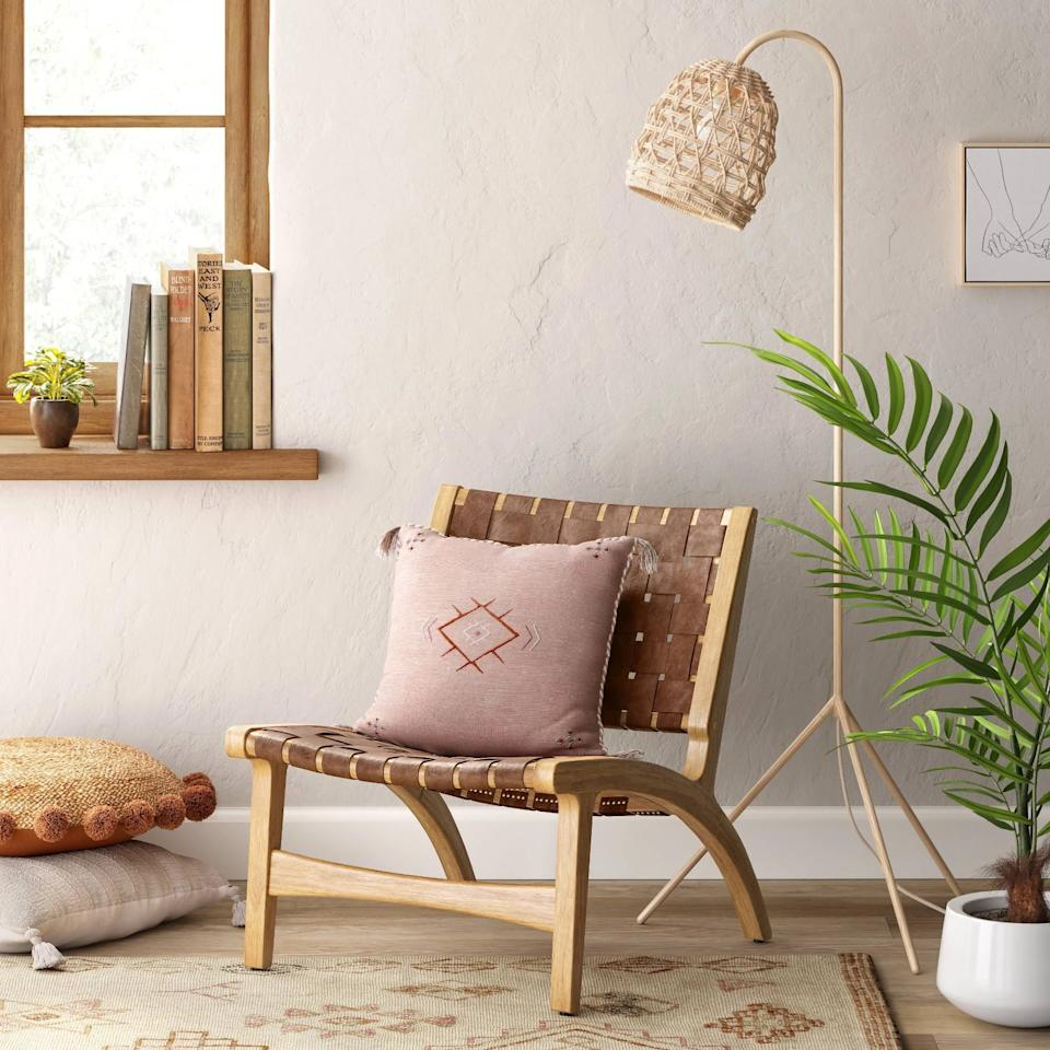 """<p>Get this <product href=""""https://www.target.com/p/ceylon-woven-accent-chair-opalhouse/-/A-77459134?preselect=76615537#lnk=sametab"""" target=""""_blank"""" class=""""ga-track"""" data-ga-category=""""Related"""" data-ga-label=""""https://www.target.com/p/ceylon-woven-accent-chair-opalhouse/-/A-77459134?preselect=76615537#lnk=sametab"""" data-ga-action=""""In-Line Links"""">Opalhouse Ceylon Woven Accent Chair</product> ($200) for your bedroom.</p>"""