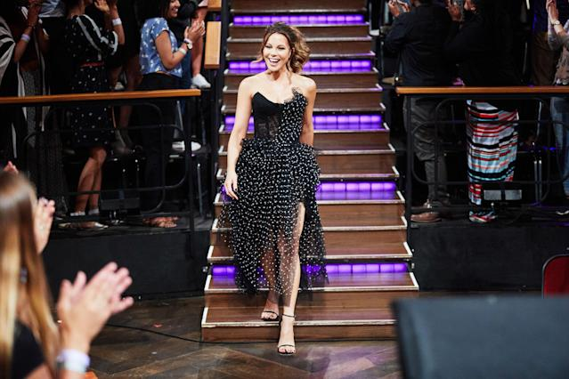 The star looks seamless in this hybrid dress. (Photo: Getty Images)