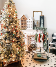 "<p>Rather than fiddle with lots of different houses and accompanying accessories, try filling out your mantel with two oversized Christmas cottages and some garland. </p><p><em>See more at <a href=""https://www.instagram.com/p/B_aESUrlUSn/"" rel=""nofollow noopener"" target=""_blank"" data-ylk=""slk:Survival of a Suburban Mom"" class=""link rapid-noclick-resp"">Survival of a Suburban Mom</a>.</em></p><p><a class=""link rapid-noclick-resp"" href=""https://www.amazon.com/One-Holiday-Way-13-Inch-Rustic/dp/B07VQ4WQXN?tag=syn-yahoo-20&ascsubtag=%5Bartid%7C10072.g.34484299%5Bsrc%7Cyahoo-us"" rel=""nofollow noopener"" target=""_blank"" data-ylk=""slk:SHOP WOODEN HOUSE"">SHOP WOODEN HOUSE</a></p>"