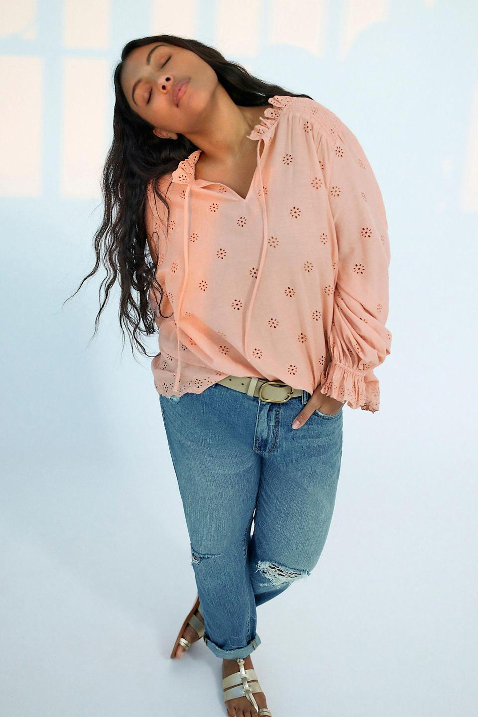 """<br><br><strong>Pilcro</strong> The Slim Boyfriend Jeans, $, available at <a href=""""https://go.skimresources.com/?id=30283X879131&url=https%3A%2F%2Fwww.anthropologie.com%2Fshop%2Fpilcro-the-slim-boyfriend-jeans2%3Fcategory%3Dplus-size-jeans%26color%3D092%26type%3DPLUS%26viewcode%3Dc%26quantity%3D1"""" rel=""""nofollow noopener"""" target=""""_blank"""" data-ylk=""""slk:Anthropologie"""" class=""""link rapid-noclick-resp"""">Anthropologie</a>"""
