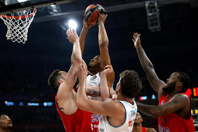 Basketball - EuroLeague Final Four Semi Final A - CSKA Moscow vs Real Madrid - ?Stark Arena?, Belgrade, Serbia - May 18, 2018 Real Madrid's Anthony Randolph in action REUTERS/Alkis Konstantinidis