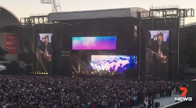 Around 30,000 people attended the concert. Source: 7 News