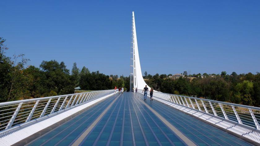 Sundial Bridge over the Sacramento River in Redding, CA. ** OUTS - ELSENT, FPG, CM - OUTS * NM, PH, VA if sourced by CT, LA or MoD **