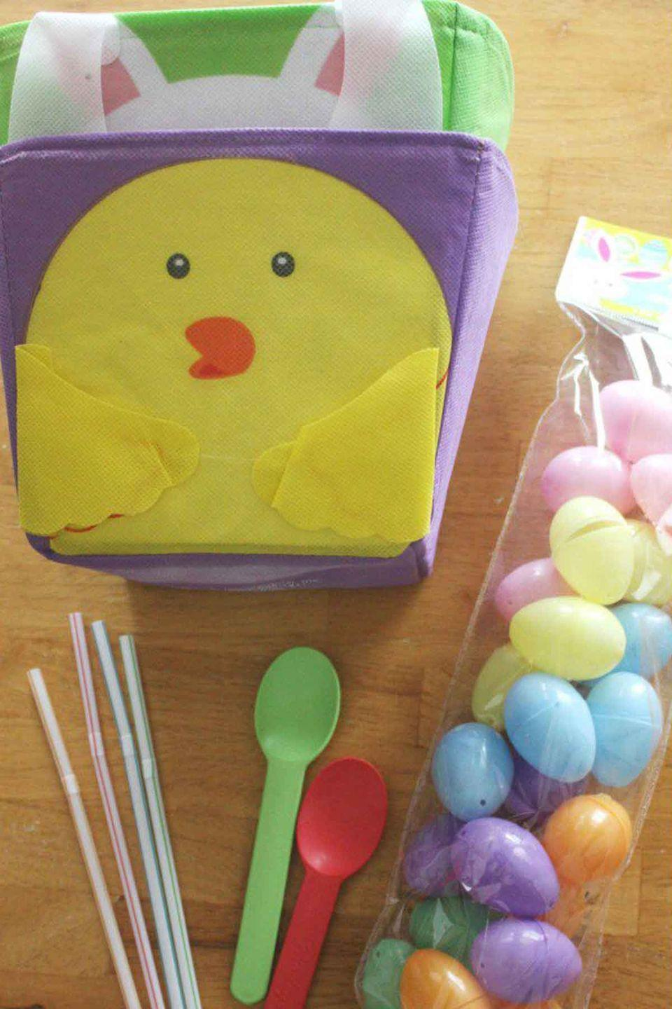 """<p>Love Minute-to-Win-It games? Here's the Easter version! <br></p><p><em>Get the tutorial at <a href=""""http://littlebinsforlittlehands.com/minute-to-win-it-easter-games-family-game-time/"""" rel=""""nofollow noopener"""" target=""""_blank"""" data-ylk=""""slk:Little Bins For Little Hands"""" class=""""link rapid-noclick-resp"""">Little Bins For Little Hands</a>.</em></p>"""