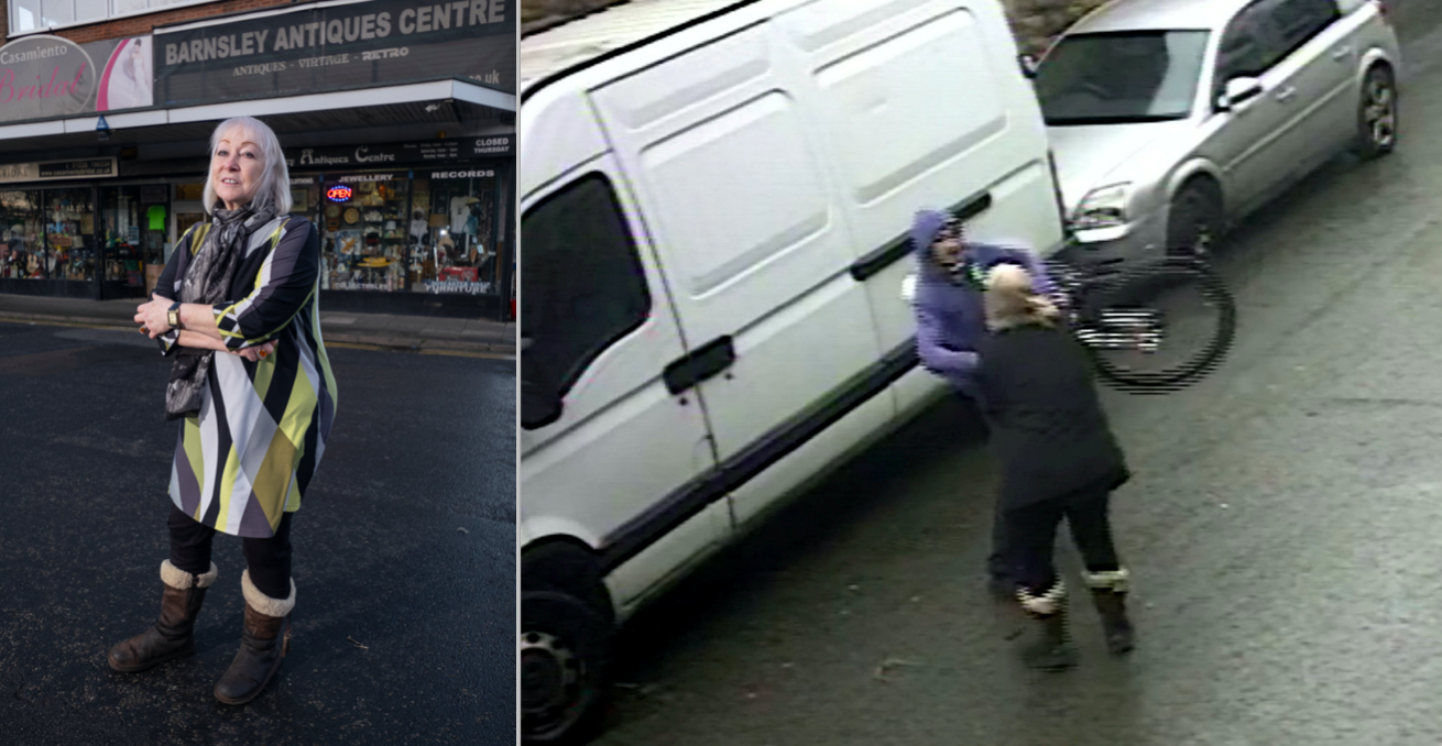 Mari Parker was filmed tackling a thug who tried to sell her a stolen bike (SWNS)
