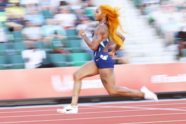 Sha'Carri Richardson romps to an opening victory in her 100m heat at the US trials