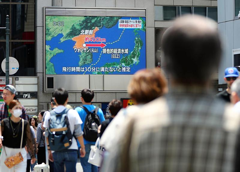 North Korea test fires another missile that falls in Japan's economic zone