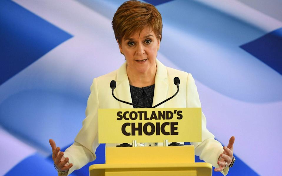 Nicola Sturgeon's government wants to stage a second independence referendum this year - AFP