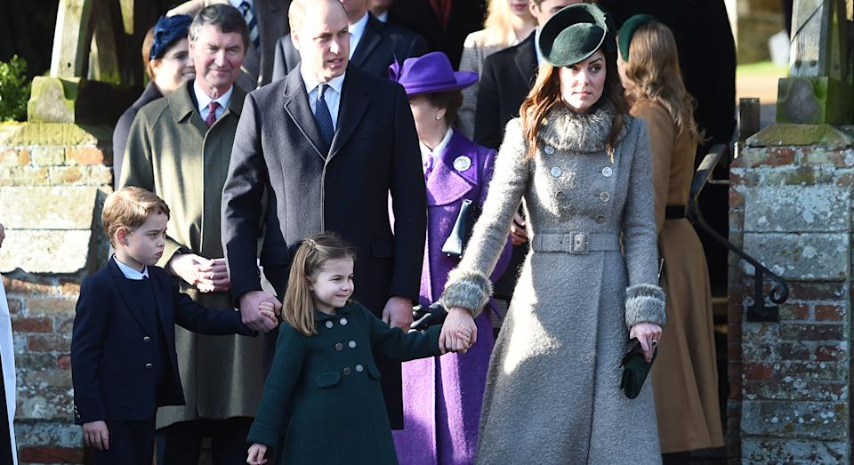 Prince George and Princess Charlotte joined the Duke and Duchess of Cambridge on Christmas Day. [Photo: PA]
