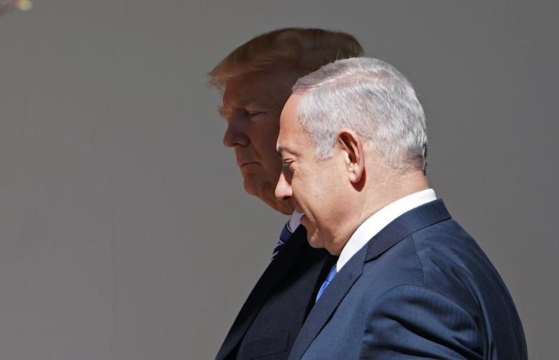 Netanyahu plays up his relationships with world leaders, particularly US President Donald Trump, who has handed him the twin prizes of recognition of Jerusalem as Israel's capital and of its annexation of the Syrian Golan Heights (AFP Photo/MANDEL NGAN)