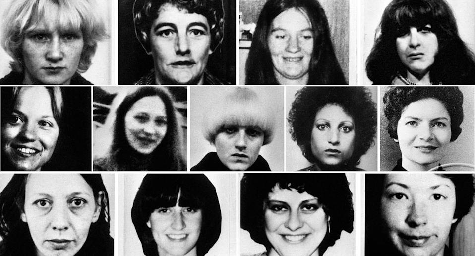 The Yorkshire Ripper's 13 victims. (PA)
