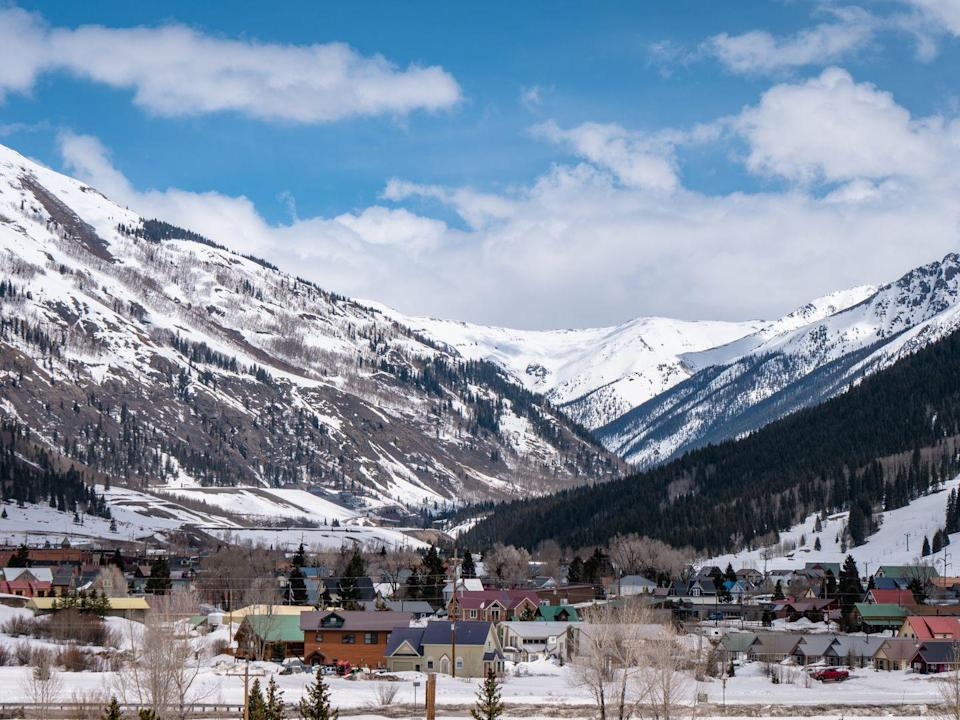 """<p>This mining town is an outdoor play place for <a href=""""https://www.silvertoncolorado.com/winter-adventures"""" rel=""""nofollow noopener"""" target=""""_blank"""" data-ylk=""""slk:winter enthusiasts"""" class=""""link rapid-noclick-resp"""">winter enthusiasts</a>. skiing, snowboarding, snowshoeing, ice fishing and more. You can even try your hand at ice climbing. </p>"""