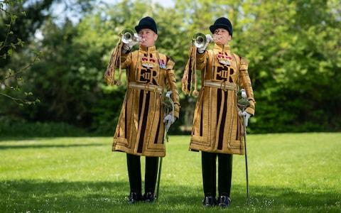 LCpl Kate and LCoH Julian Sandford will play in St Georges Chapel - Credit: Geoff Pugh for the Telegraph