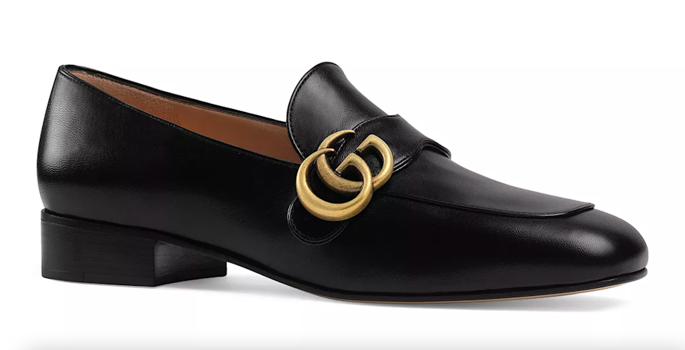 """<h2>Gucci Leather Loafers with Double G</h2><br>""""Just look at this shoe — it's beautiful, goes with everything, and offers a kind of timeless luxury I always strive for. Plus, I think the double-G hardware is a gorg alternative to the Gucci horsebit you see everywhere."""" <em>– Jinnie Lee, Freelance Fashion Writer</em><br><a href=""""https://www.bloomingdales.com/shop/product/gucci-womens-leather-loafers-with-double-g?ID=3534236&CategoryID=16961#"""" rel=""""nofollow noopener"""" target=""""_blank"""" data-ylk=""""slk:"""" class=""""link rapid-noclick-resp""""><br></a><em>Shop </em><a href=""""https://www.bloomingdales.com/"""" rel=""""nofollow noopener"""" target=""""_blank"""" data-ylk=""""slk:Bloomingdale's"""" class=""""link rapid-noclick-resp""""><em>Bloomingdale's</em></a><br><br><strong>Gucci</strong> Women's Leather Loafers with Double G, $, available at <a href=""""https://go.skimresources.com/?id=30283X879131&url=https%3A%2F%2Fwww.bloomingdales.com%2Fshop%2Fproduct%2Fgucci-womens-leather-loafers-with-double-g%3FID%3D3534236%26CategoryID%3D16961"""" rel=""""nofollow noopener"""" target=""""_blank"""" data-ylk=""""slk:Bloomingdale's"""" class=""""link rapid-noclick-resp"""">Bloomingdale's</a>"""