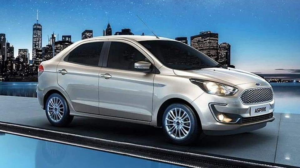 Ford Aspire CNG variant spotted testing in India, launch imminent