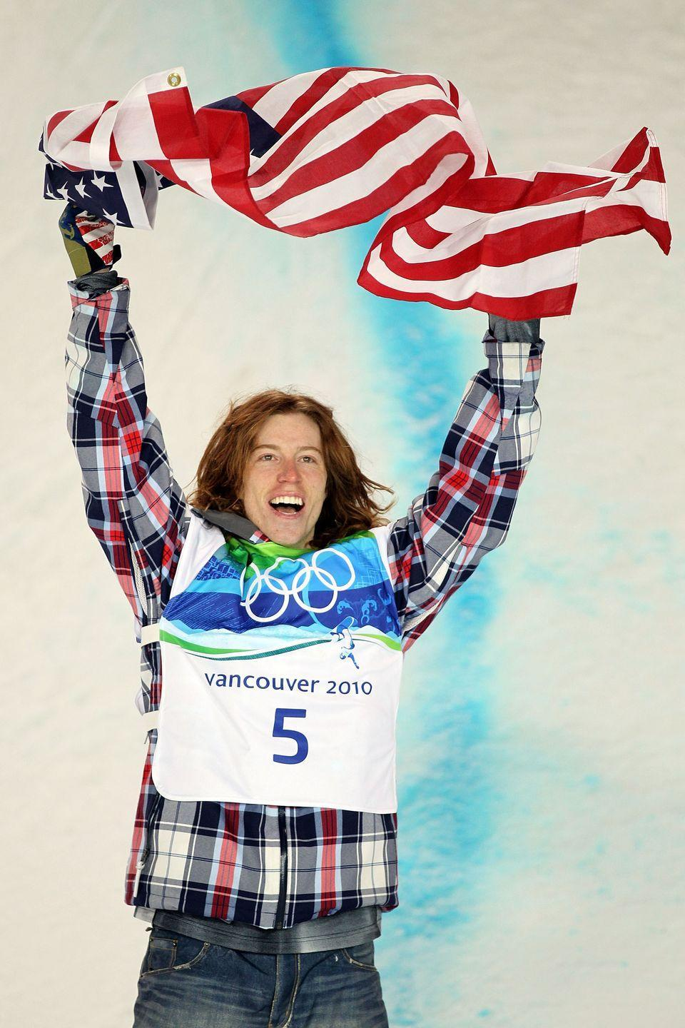 """<p>Shaun White—or as people like to call him, the """"Flying Tomato""""—shredded his way to a gold medal victory by landing the first ever Double McTwist 1260 on the halfpipe in 2010.</p>"""
